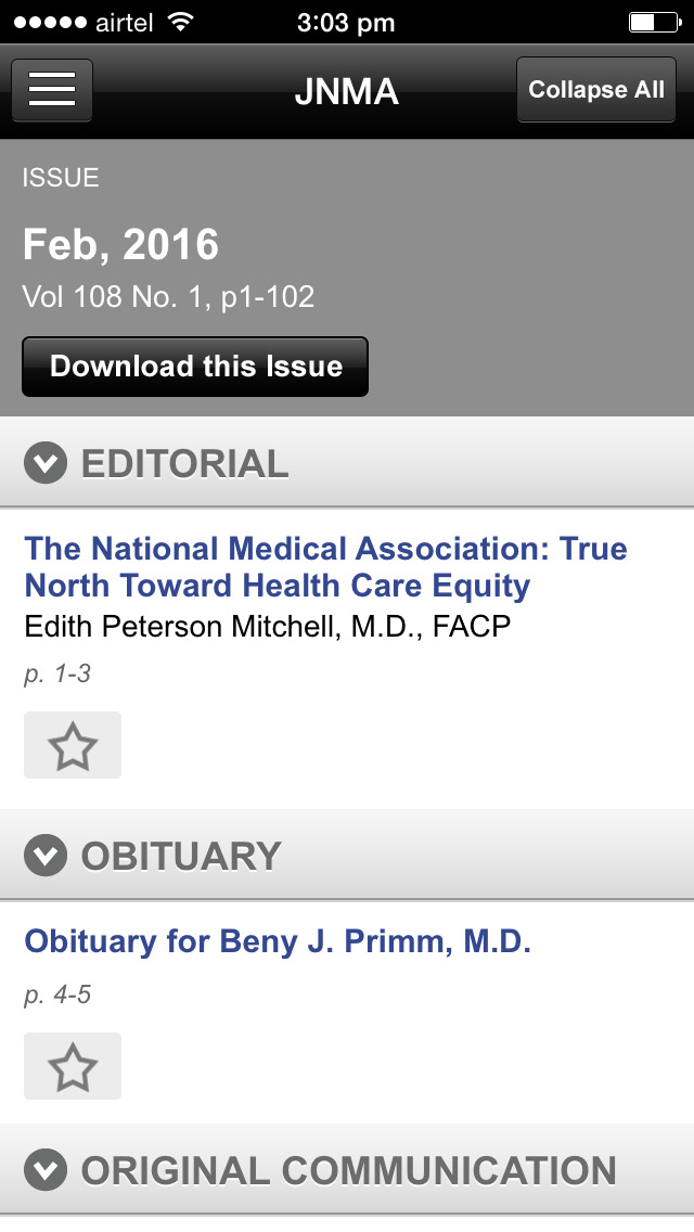Journal of the National Medical Association screenshot 3
