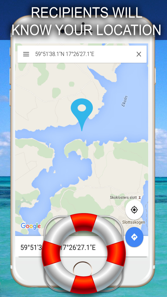 Sea rescue - Call for help at sea with your gps location screenshot 3