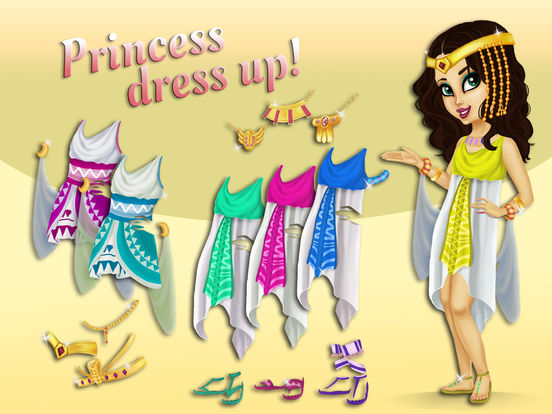 Sweet Egyptian Princess - Fashion Makeover & Kitty Styling screenshot 9