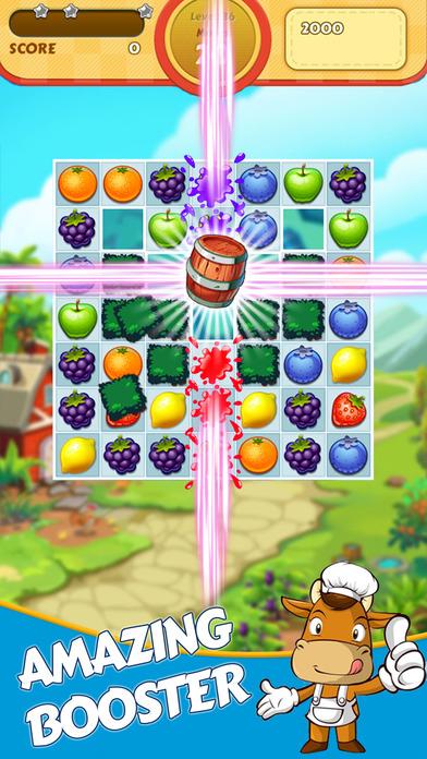 Jungle Paradise - Fruit Frenzy Match 3 screenshot 2