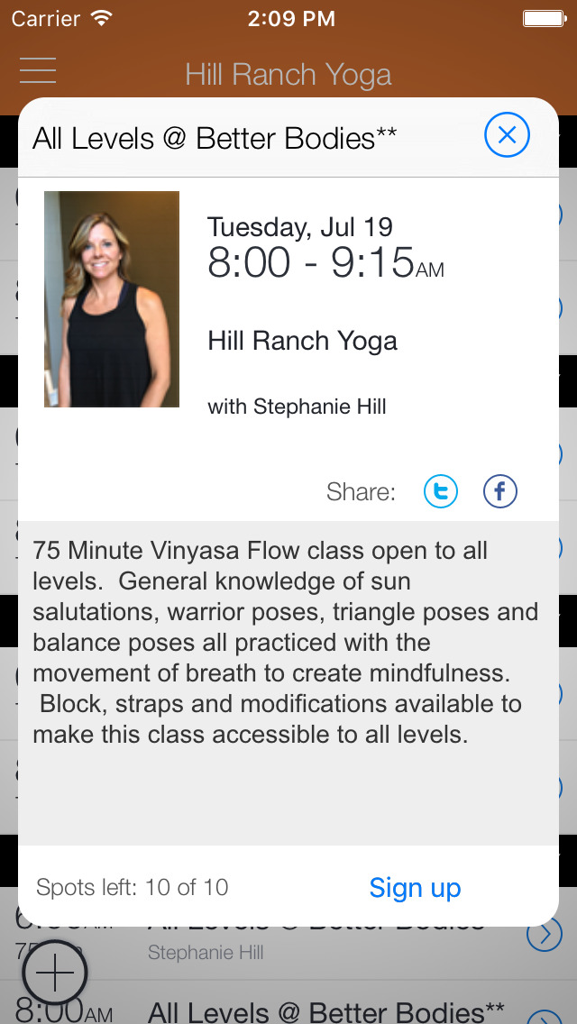 Hill Ranch Yoga screenshot 2