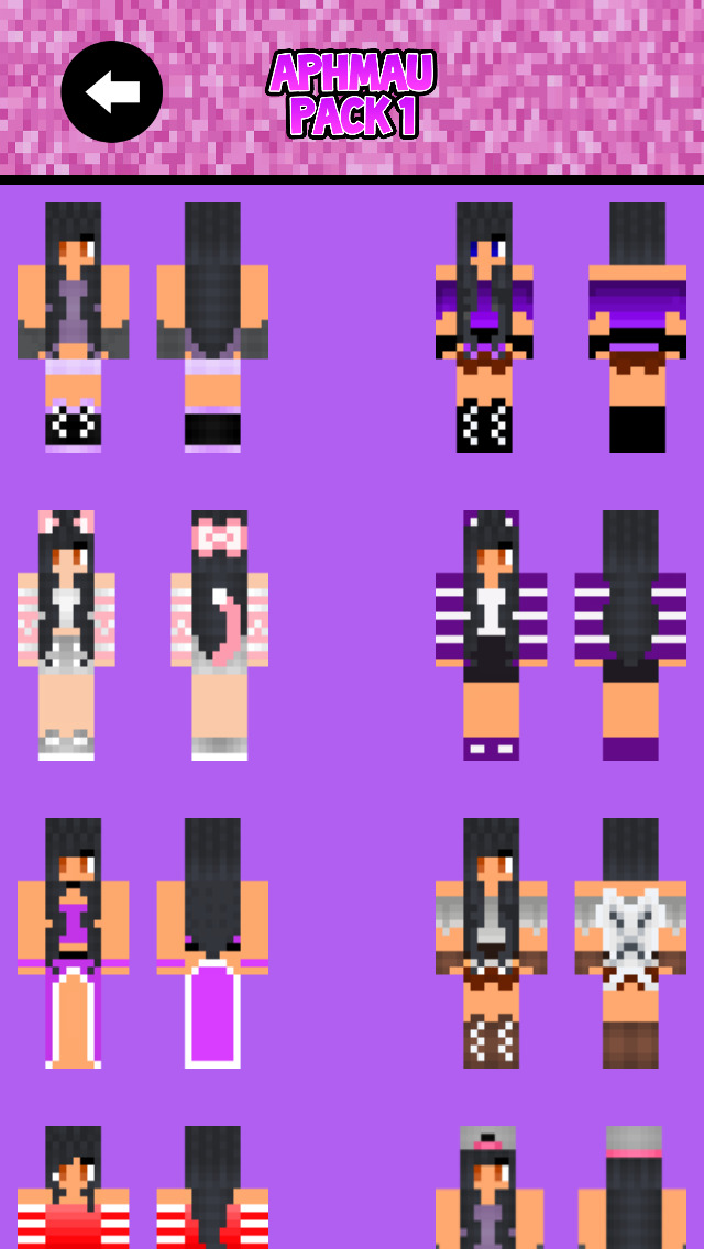 APHMAU SKINS with MC Diaries & MyStreet Skins for Minecraft PE screenshot 4