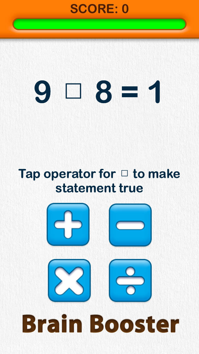 Able Brain Exercises Operators Free screenshot 4
