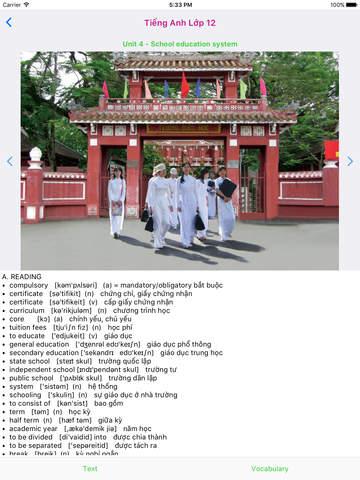 Tieng Anh Lop 12 - English 12 screenshot 6