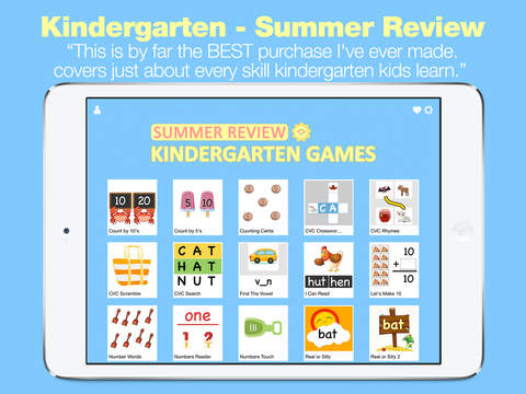 Kindergarten Learning Games - Summer Review for Math and Reading screenshot 6