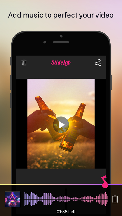 add music to video app iphone slidelab add to photos amp slideshow editor on the 3192