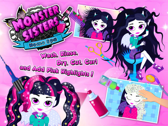 Monster Sisters 2 Home Spa - Rock Star Makeover screenshot 6