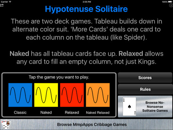 Hypotenuse Solitaire | Apps | 148Apps
