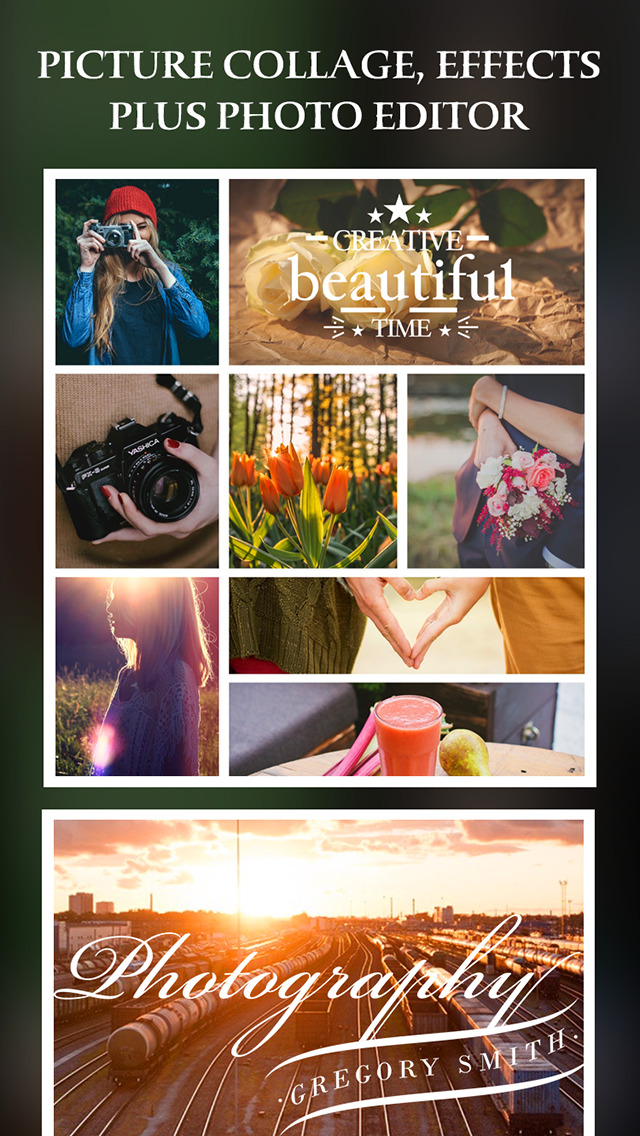 Simple Collage – Picture collage, camera effects plus photo editor screenshot 1