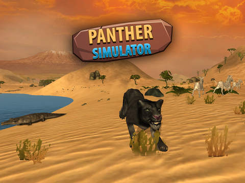 Black Wild Panther Simulator 3D Full - Be a wild cat in animal simulator! screenshot 6