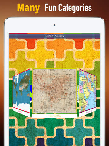 Memorize Maps by Sliding Tiles Puzzle: Learning Becomes Fun screenshot 5