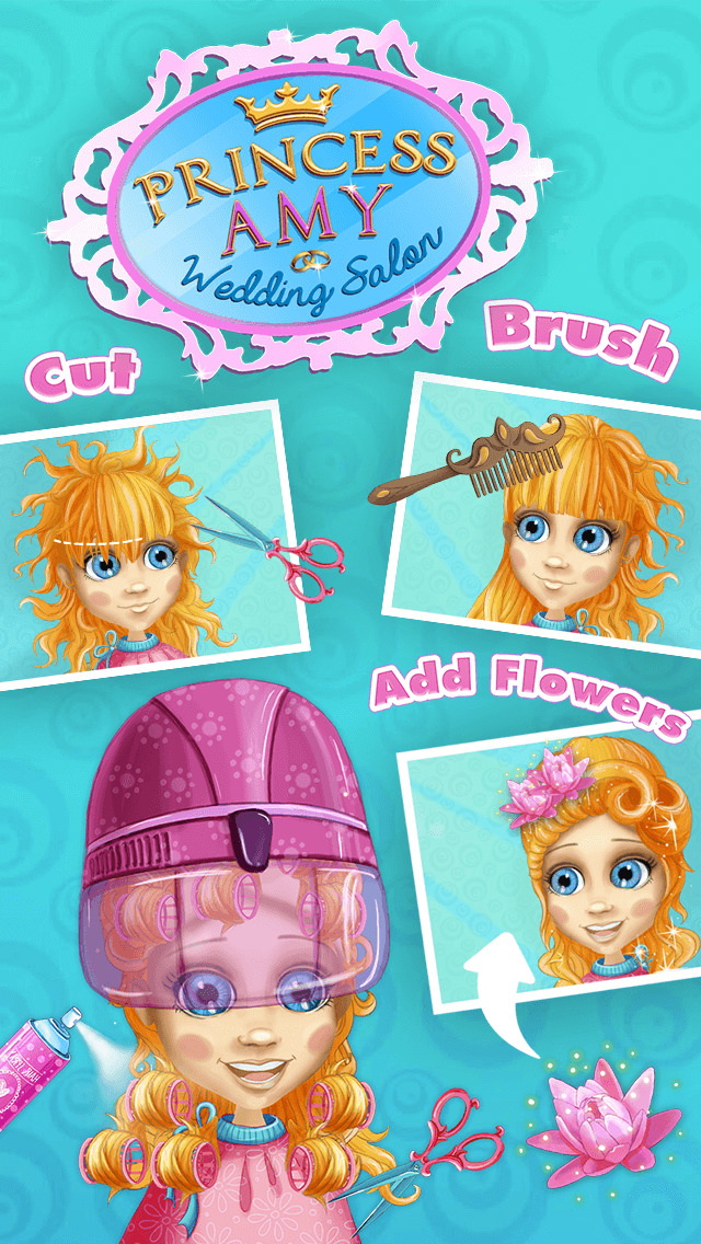 Princess Amy Wedding Salon - No Ads screenshot 5