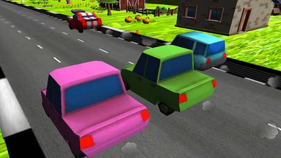 Turbo Car Racing : Cartoon Drive Free Game screenshot 2