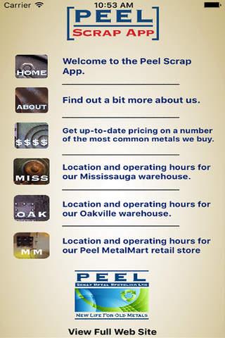 Peel Scrap Metal Recycling App - náhled