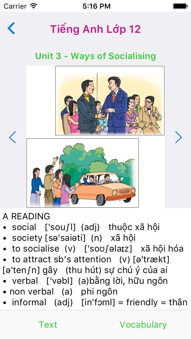 Tieng Anh Lop 12 - English 12 screenshot 3