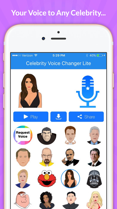 Celebrity Voice Changer - Face screenshot 2