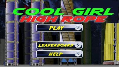 Cool Girl High Rope PRO - Extreme Rope Game screenshot 1