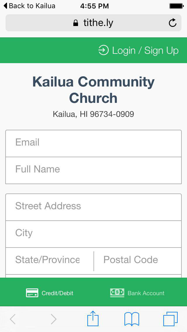 Kailua Community Church S 148s