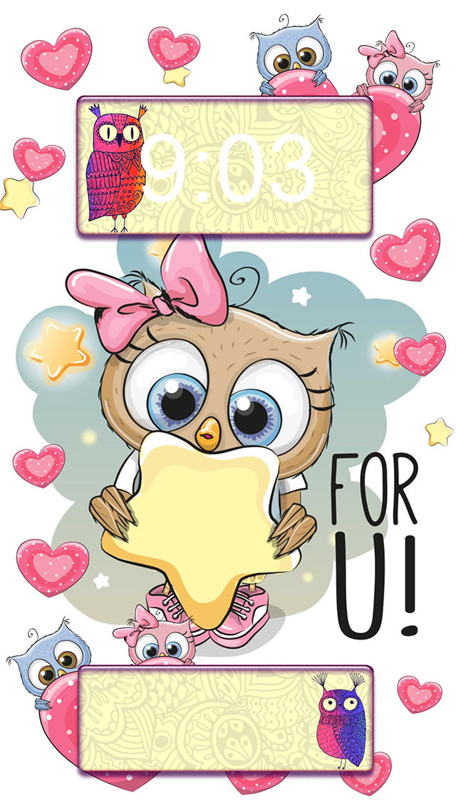 Cute Owl Wallpaper Collection Lovely Backgrounds For Girls And Custom Lock Screen Maker Free Apps 148apps