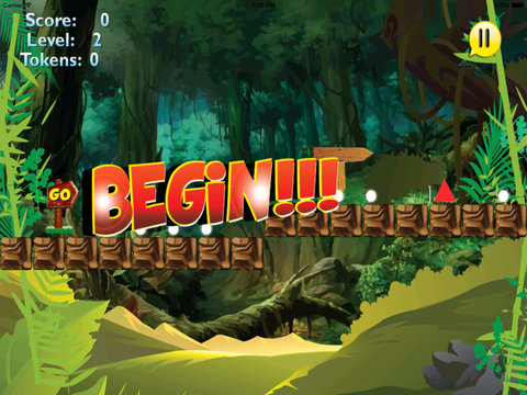 A Platform Animal Jump - Rino Jumping To Avoid Sharp Obstacles screenshot 8