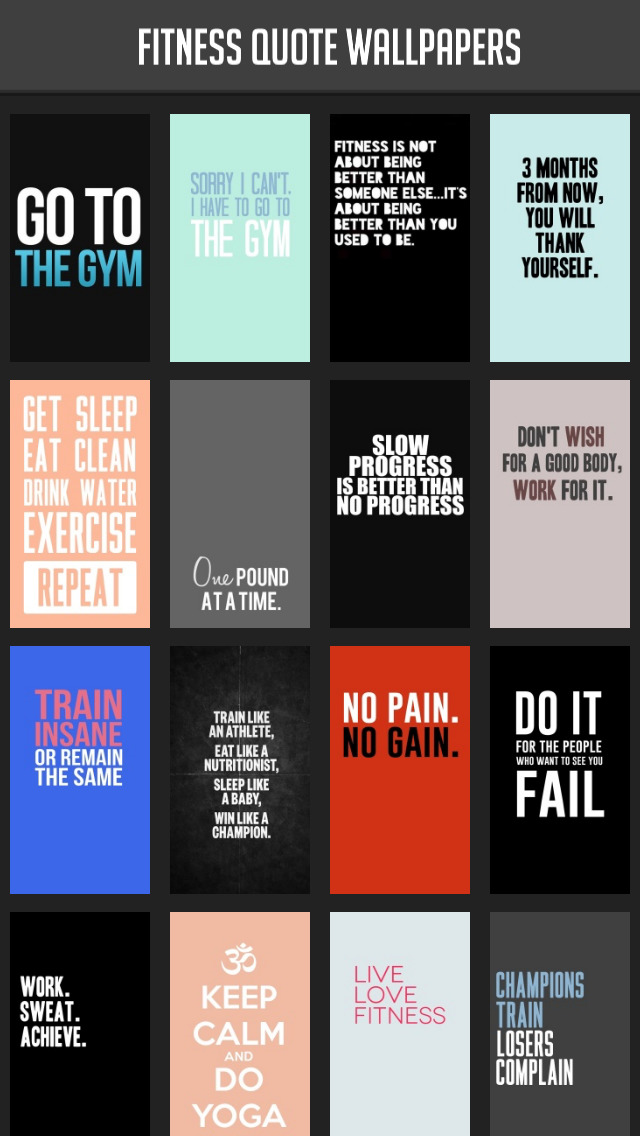 Fitness Quote Wallpapers screenshot 1