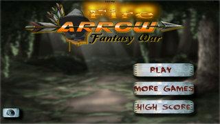 Fire Arrow Fantasy War - Archery Master 3D Game screenshot 1