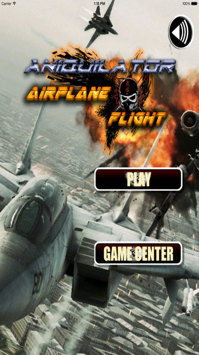 Aniquilator Airplane Flight - Aircraft Game screenshot 1