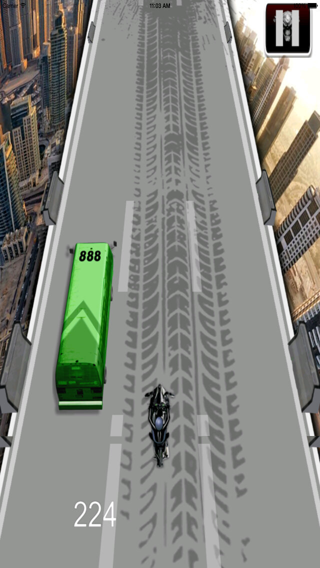 A Futuristic Avenger Motorcycle - Awesome Bike Race Temple screenshot 3