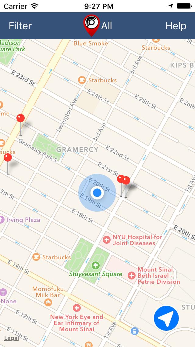 Poke Finder & Radar Map for Pokemon Go screenshot 1