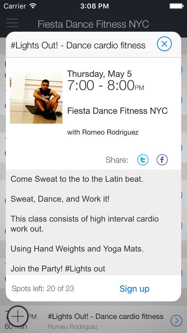 Fiesta Dance Fit NYC screenshot 2