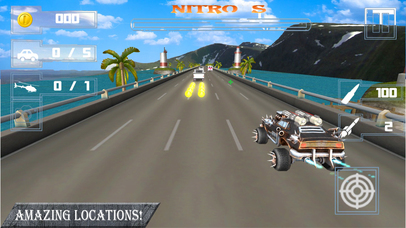 Weapon Car Rider : Highway Shooting Race-r 3D screenshot 3