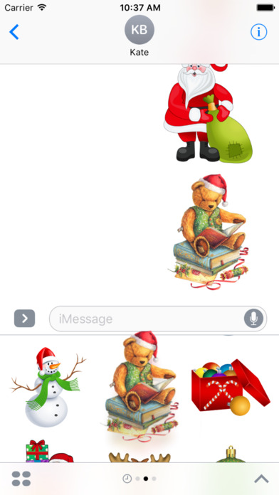 Magic Christmas Stickers iMessage Edition screenshot 5