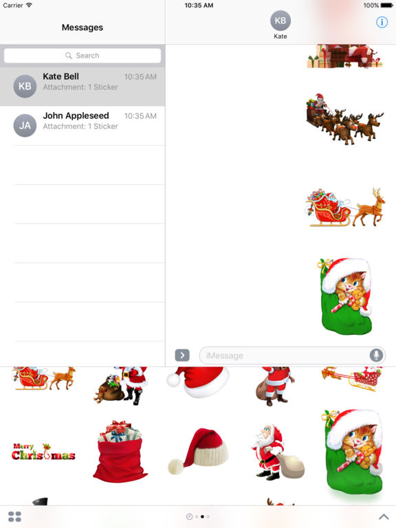 Magic Christmas Stickers iMessage Edition screenshot 10