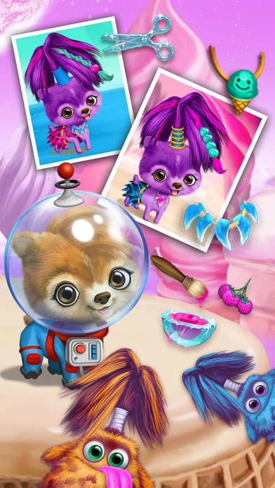 Space Animal Hair Salon - No Ads screenshot 5