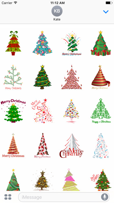 Christmas Tree Stickers for iMessage screenshot 1