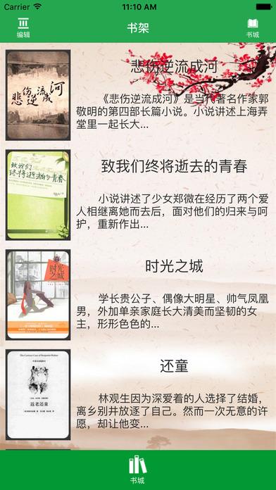 「悲伤逆流成河」畅销青春爱情小说 screenshot 1