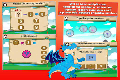 Dragon Second Grade Kids Learning Games School Edi - náhled