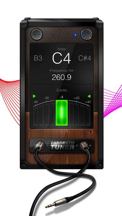 Chromatic Guitar Tuner - Ukulele, Guitar, Bass screenshot 1