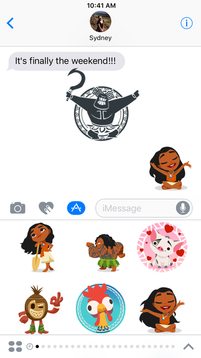 Disney Stickers: Moana screenshot 1