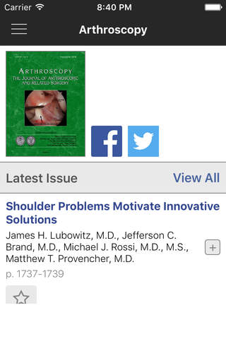 Arthroscopy Journal - náhled