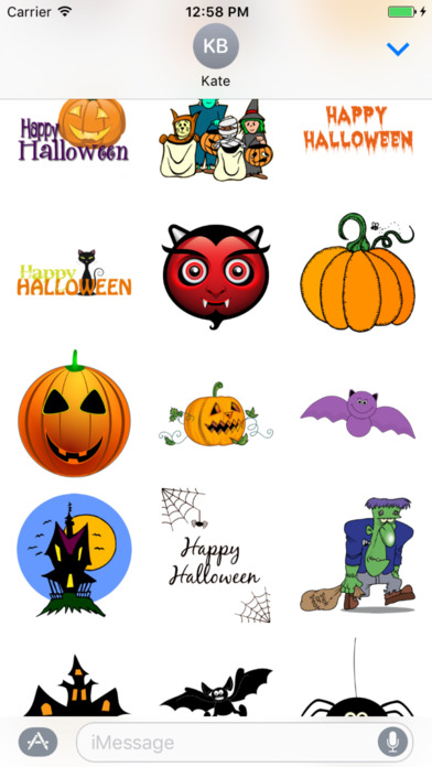 Best Halloween Stickers+ screenshot 1