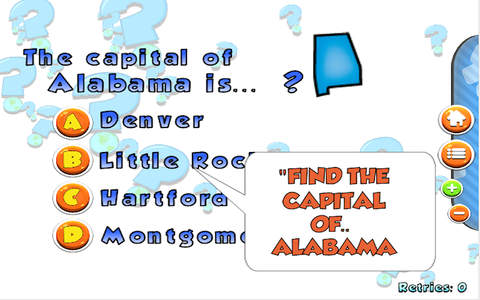 US Map and Capitals Puzzle LITE - náhled