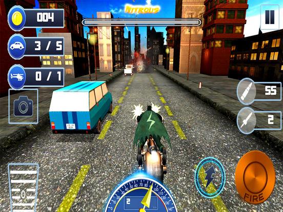 Gunship Bike Shooter : 3D Free Highway Attack screenshot 5