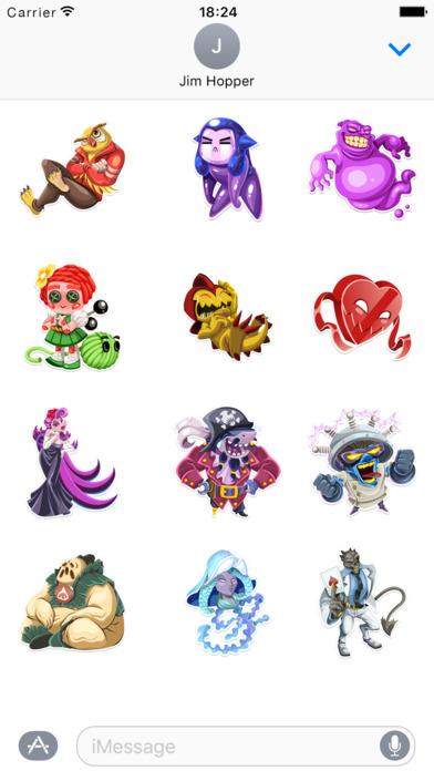 Monster Legends Stickers screenshot 1