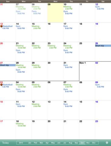 Monthly Calendar MocaHD - náhled
