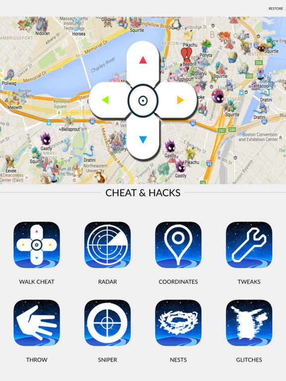 Walk Cheat & Travel Coordinates for Pokemon Go | Apps | 148Apps