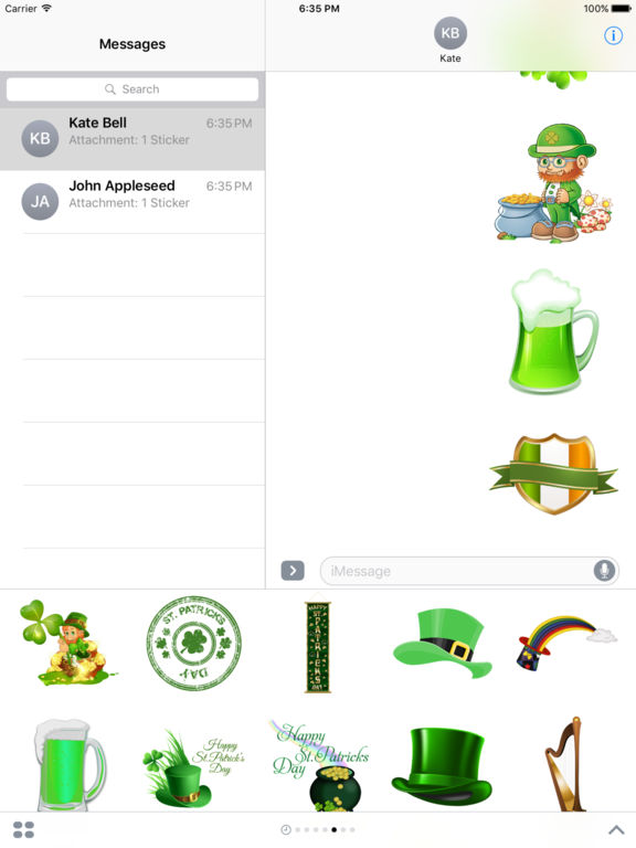 Happy St Patrick's Day Stickers for iMessage screenshot 9