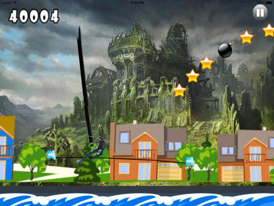 A Stunt Of Ninja Jump - Awesome Warrior Doodle Swint Game screenshot 7