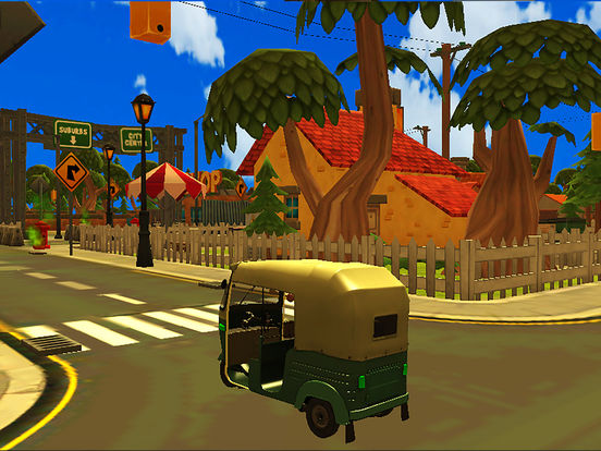 City Tuk Tuk Rickshaw : free simulation game screenshot 8