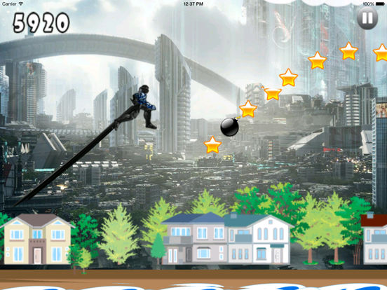 A Masterless Samurai Jumping Pro - Awesome Games screenshot 8
